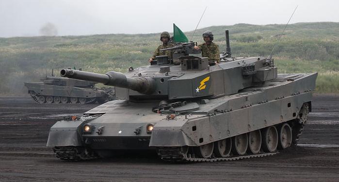 JGSDF_type90_tank_braking_practice
