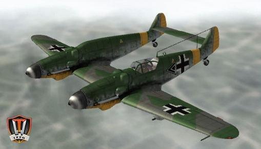 WWII-Messerschmitt-Bf-109Z-Zwilling-Aircraft-Paper-Model-min