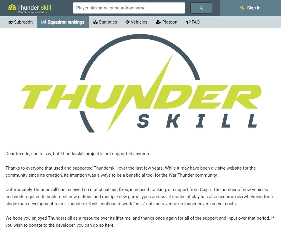 Thunderskill not