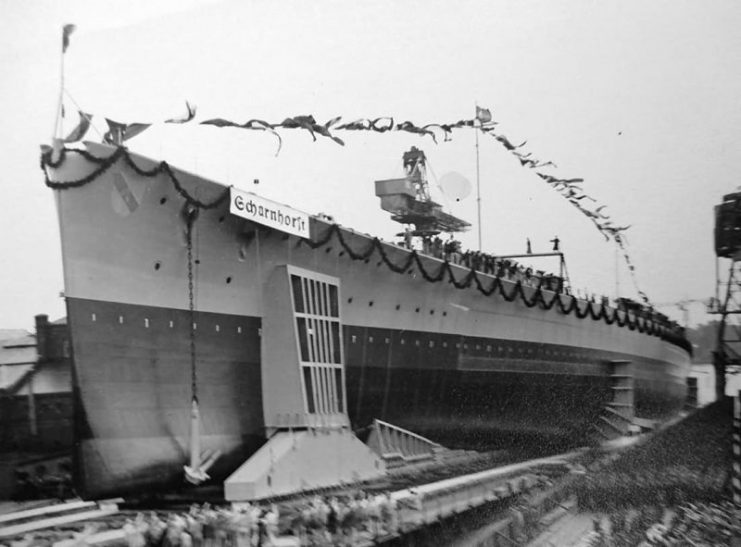 launch-of-the-battleship-scharnhorst-741x547