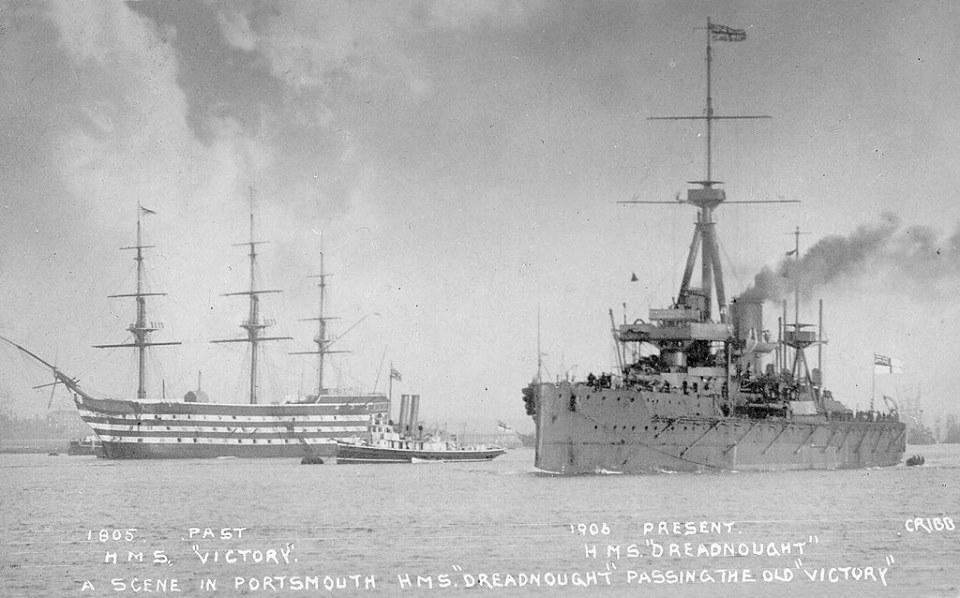 hms_victory_and_hms__dreadnought_circa_1906_by_stephenbarlow_d8rz9vw-fullview
